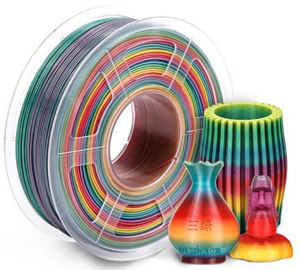 filamento PLA Arcoiris de 1.75mm fabricado por Sunlu
