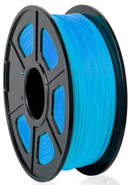 filamento PLA Azul noctilucente de 1.75mm fabricado por Sunlu