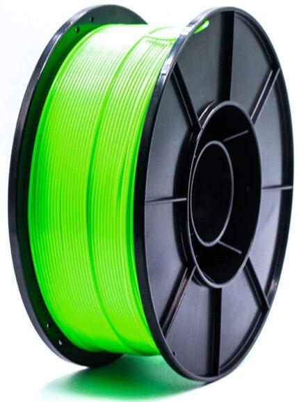 filamento 3d pla-f verde fluorescente